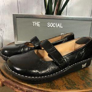 Alegria Black Leather Maryjane Shoes Sz 40 EUC
